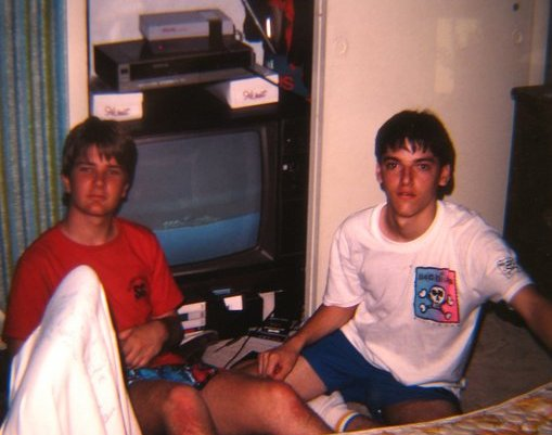 1988 Picture of Lous and Bills with the game ending sequence of Contra